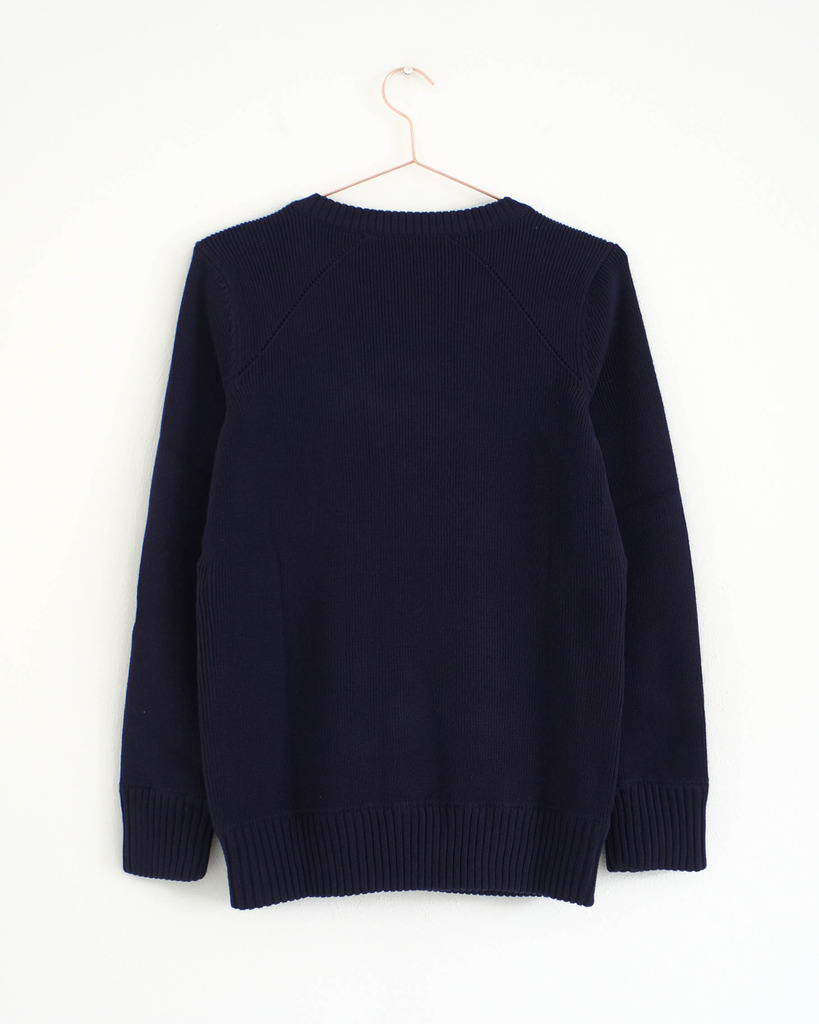 HOF115 /& Other Stories Strickpullover nude Zip detail knitted sweater S